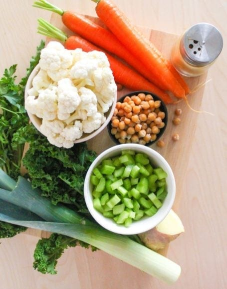Ingredients for Golden Chickpea and Vegetable Soup - Eat Spin Run Repeat
