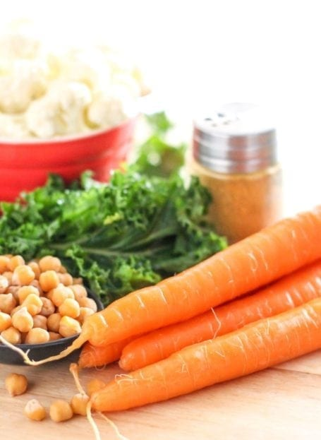chickpeas and carrots