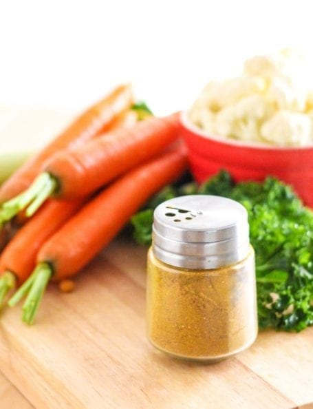 curry powder and carrots