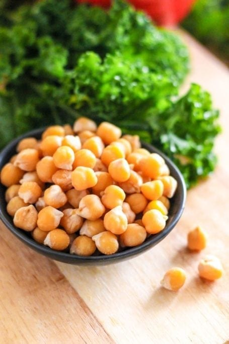 chickpeas and kale