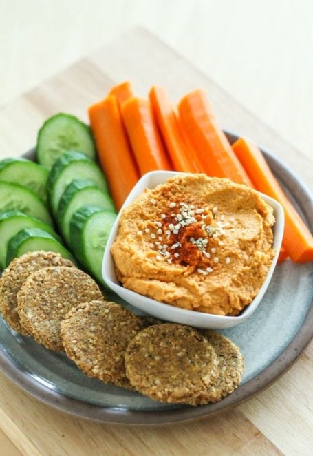 Harissa Hemp Seed Hummus - Eat Spin Run Repeat