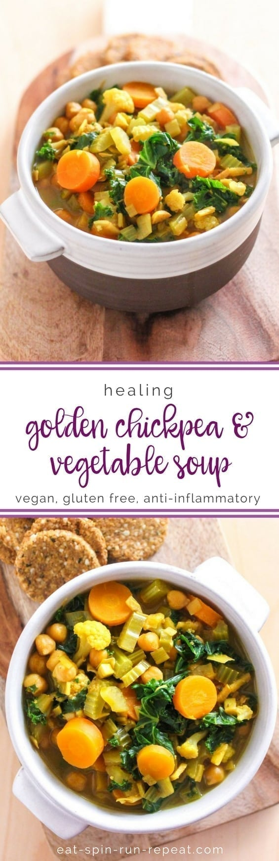 Healing Golden Chickpea and Vegetable Soup - Eat Spin Run Repeat