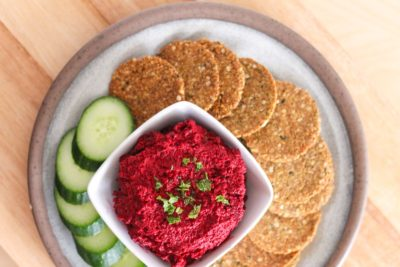 Roasted Beet Tahini Dip - Eat Spin Run Repeat