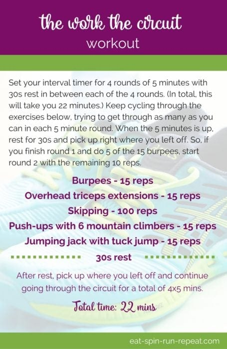 Fitness Friday 272- The Work the Circuit Workout - Eat Spin Run Repeat