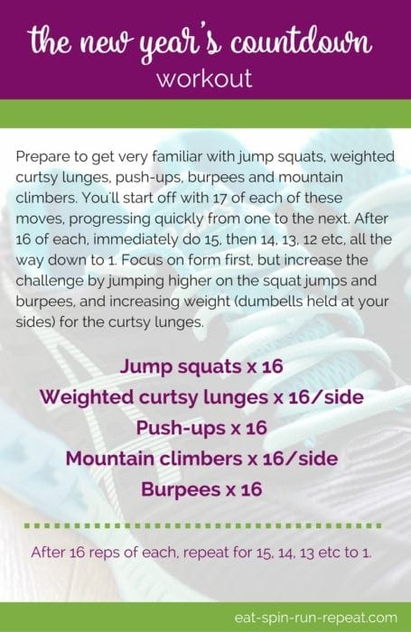 Fitness Friday 275 - The New Year's Countdown Workout - Eat Spin Run Repeat