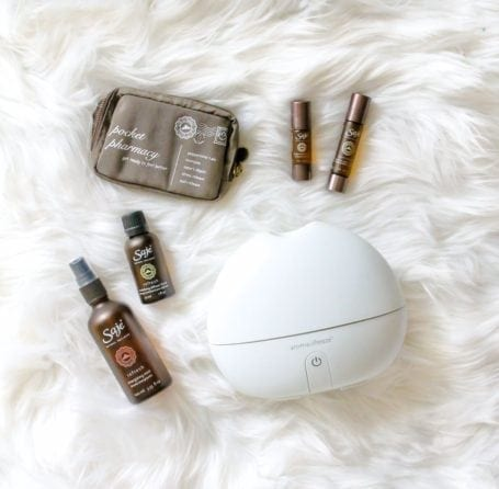 Saje Aromabreeze, Pocket Pharmacy and Essential Oil Blends - Eat Spin Run Repeat Holiday Gift Guide for Fit Friends and Foodies
