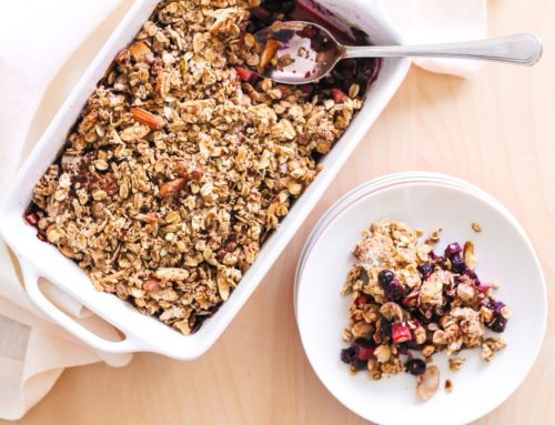 Spiced Apple Berry Crisp