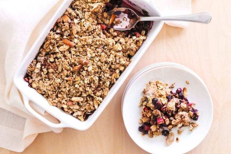 Spiced Apple Berry Crisp - Eat Spin Run Repeat
