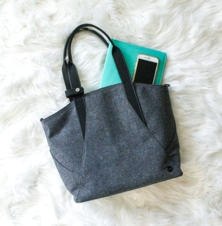 lululemon All Day Tote Mini - Eat Spin Run Repeat Holiday Gift Guide for Fit Friends and Foodies