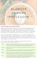 Blender vs Food Processor Sample Page