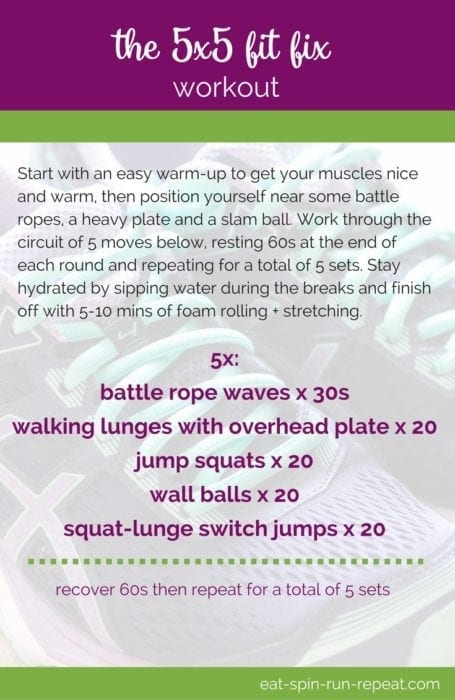 Fitness Friday 278- The 5x5 Fit Fix Workout - Eat Spin Run Repeat
