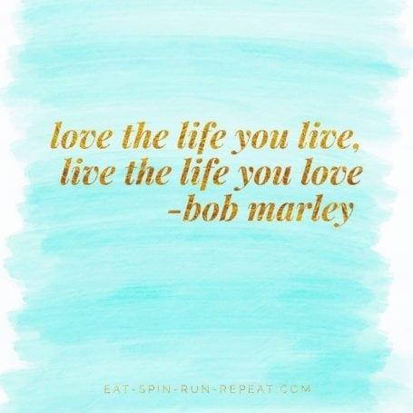 Love the life you live, live the life you love - 2017 Goals - Eat Spin Run Repeat