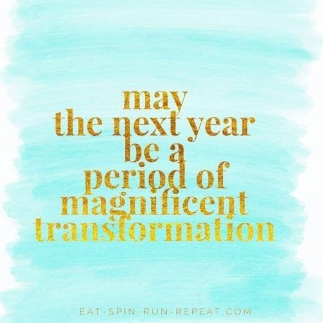 May the next year be a period of magnificent transformation - 2017 Goals - Eat Spin Run Repeat