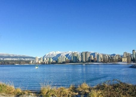 Kits Beach, Vancouver in winter