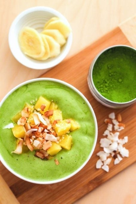 Pineapple Matcha Green Smoothie - Eat Spin Run Repeat