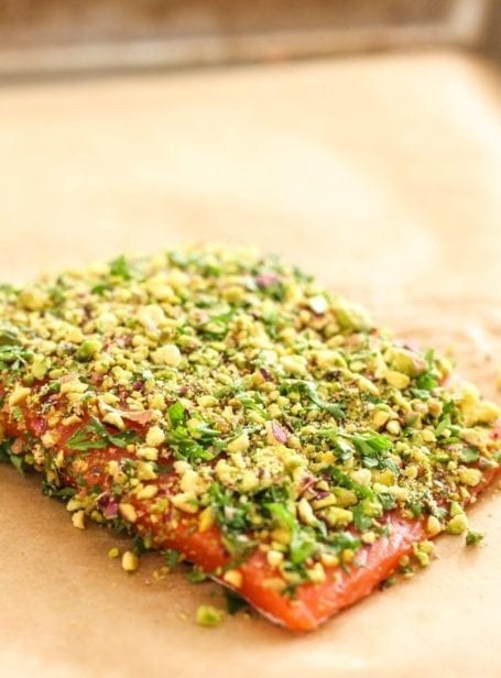 Pistachio Herb Crusted Salmon - Eat Spin Run Repeat
