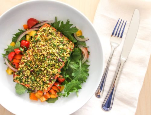 Pistachio Herb Crusted Salmon