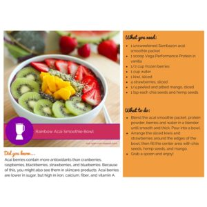 Eat Spin Run Repeat 30 Day Smoothie Challenge - Sample Page