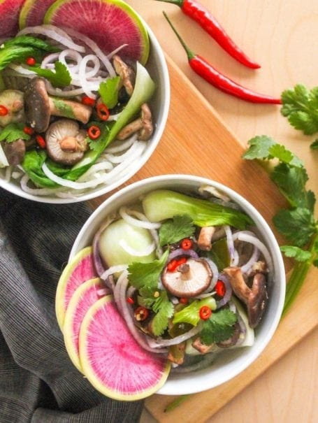 Spiralized Miso Soup - Eat Spin Run Repeat