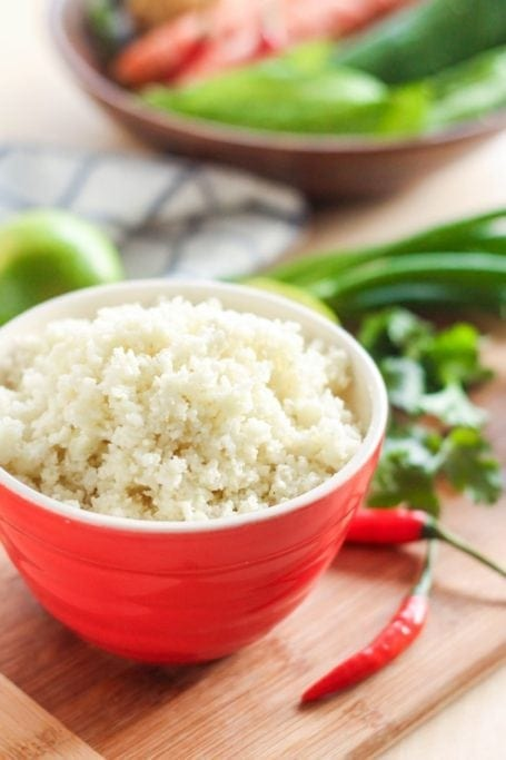 thai coconut cod curry with cauliflower rice - eat spin run repeat