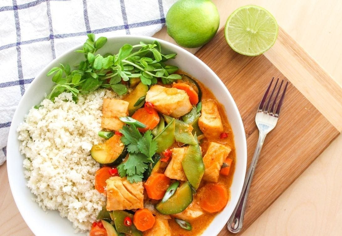 Thai Coconut Cod Curry - Eat Spin Run Repeat
