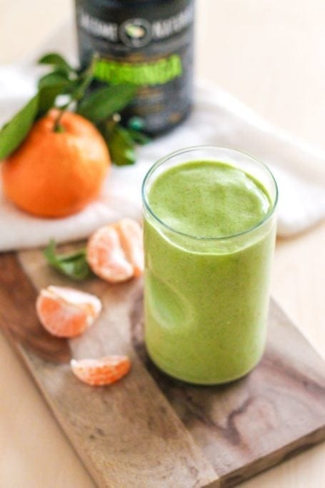 Vanilla Clementine Green Smoothie - Eat Spin Run Repeat