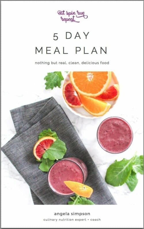 eat spin run repeat 5-day meal plan