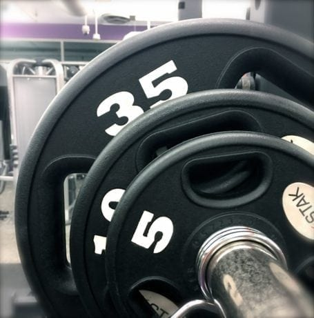 weights on barbell
