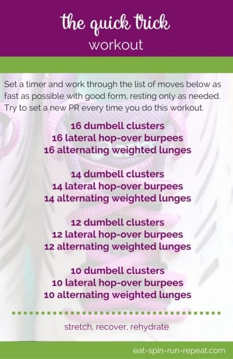 Fitness Friday 283- The Quick Trick Workout - Eat Spin Run Repeat