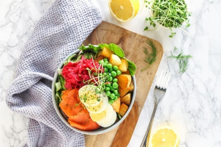 Hygge Herb Roasted Potato and Smoked Salmon Bowls - eat spin run repeat