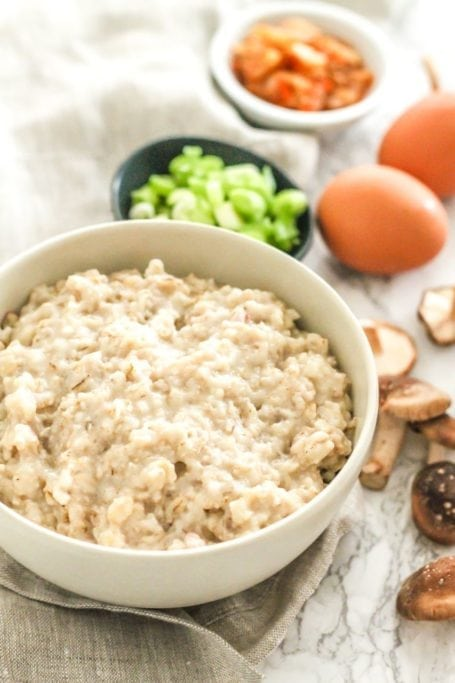 Soft Boiled Egg Savoury Oats - Eat Spin Run Repeat