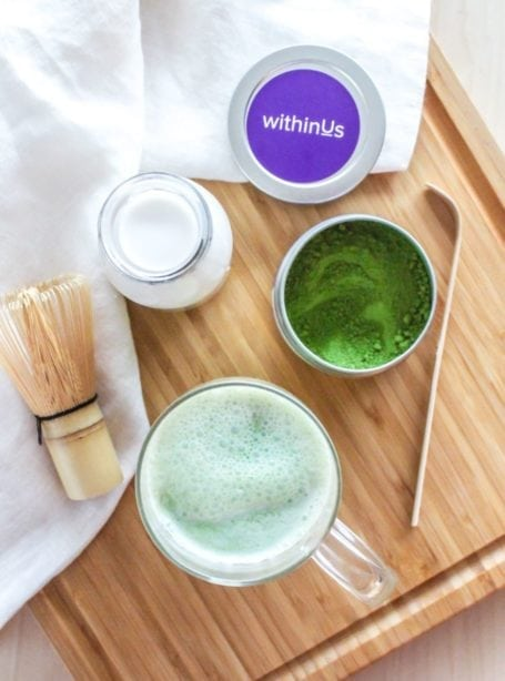 WithinUs TruOrganic Matcha Latte - Eat Spin Run Repeat