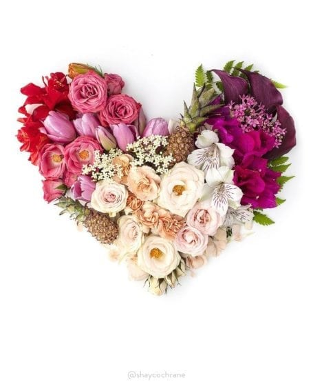 Love is Beautiful. Styled Hearts by Shay Cochrane.