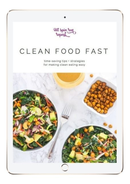 Clean Food Fast is an e-book about simplifying clean eating and meal prep, making whole foods delicious and easy to incorporate every day. Inside you'll find an easy system for meal planning, printable templates, and 12 tasty whole food recipes. Let's get cooking!