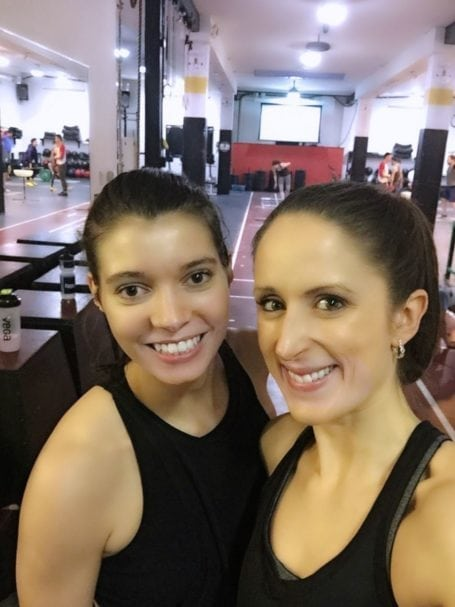Post-sweat with one of my awesome work/Crossfit buddies