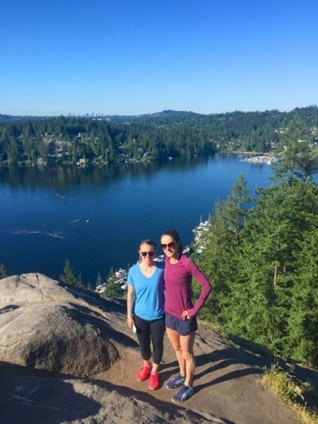 Hiking Quarry Rock, Deep Cove