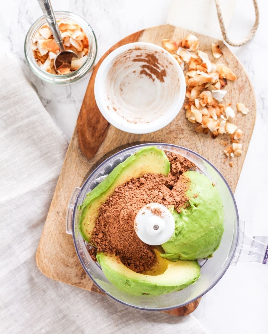 Toasted Coconut Chocolate Avocado Mousse | Eat, Spin, Run, Repeat