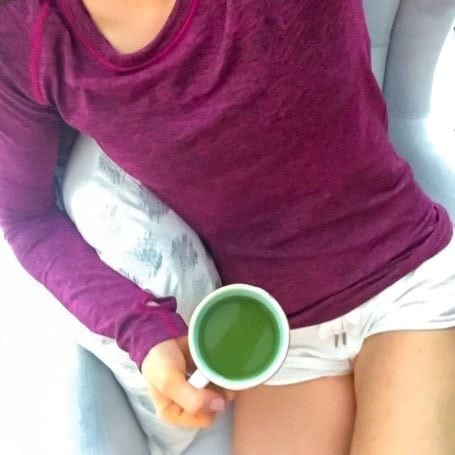 Weekend matcha collagen latte