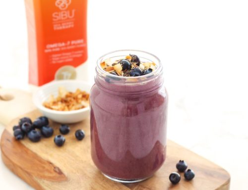 Cherry Chia Blueberry Smoothie (+ GIVEAWAY!)
