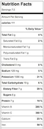 Ultimate Cauliflower Rice Tabbouleh - Nutrition Info