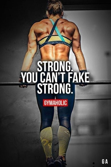 Strong. You can't fake strong.