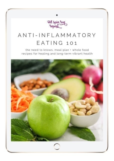 Anti-Inflammatory Eating 101 - The need-to-knows, 5-day meal plan + whole food recipes for healing and long-term health - via Eat Spin Run Repeat // @eatspinrunrpt