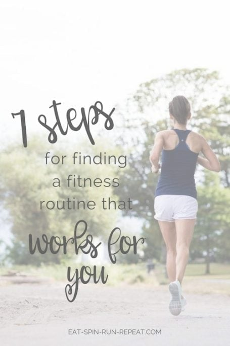 Does fitness feel like yet another 'should' on your to-do list? Use these 7 steps for finding a fitness routine that works for you - one you actually LOVE! - Eat Spin Run Repeat