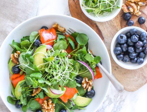 Anti-Inflammatory Blueberry Salmon Power Salad