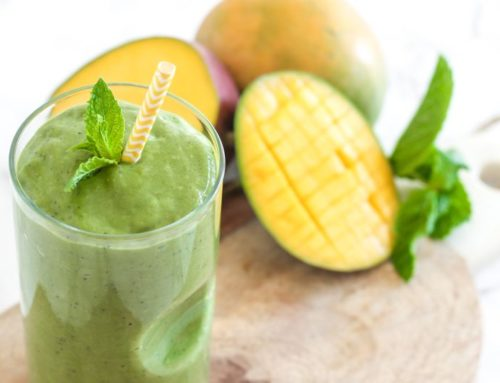 Coconut Mango Matcha Green Smoothie