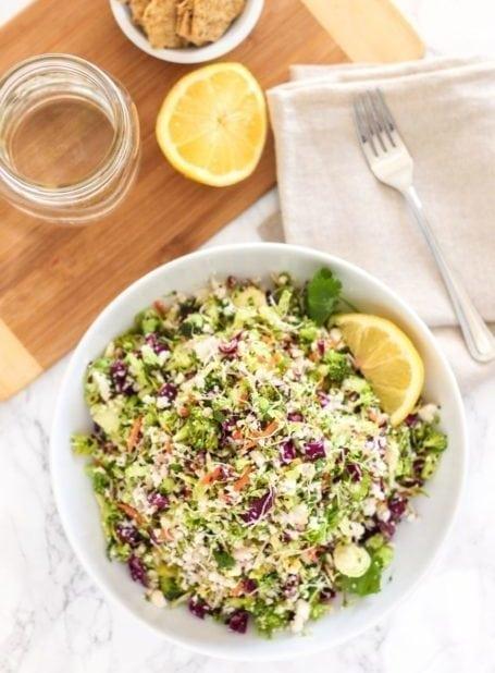 Vegan Detox Salad with Miso Tahini Dressing - Eat Spin Run Repeat