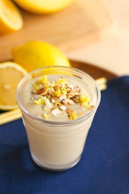 Low Sugar Lemon Meringue Pie Smoothie || vegan, anti-inflammatory, super energizing! || Eat Spin Run Repeat