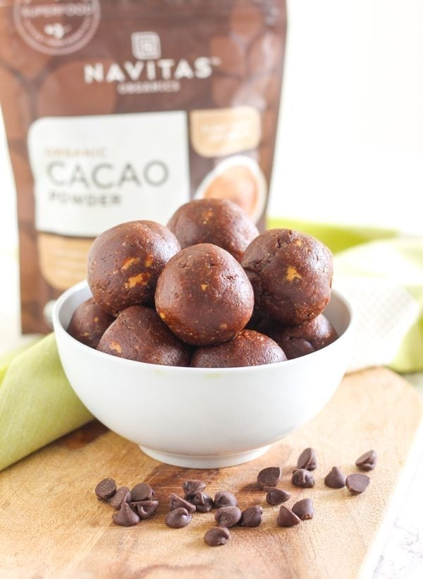 Vegan + Gluten-Free Peanut Butter Chocolate Chip Protein Bites    Eat Spin Run Repeat