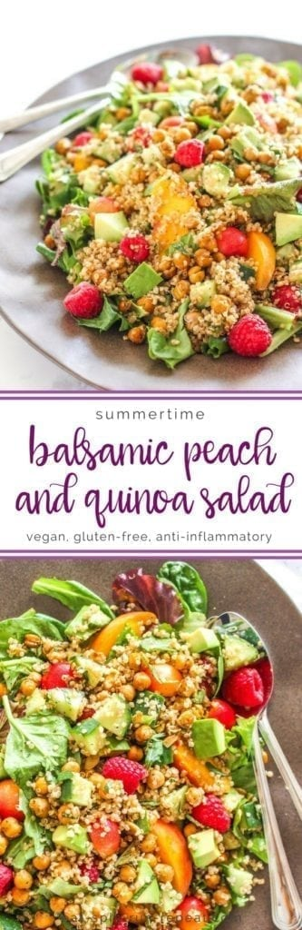 Balsamic Peach and Quinoa Salad - Eat Spin Run Repeat