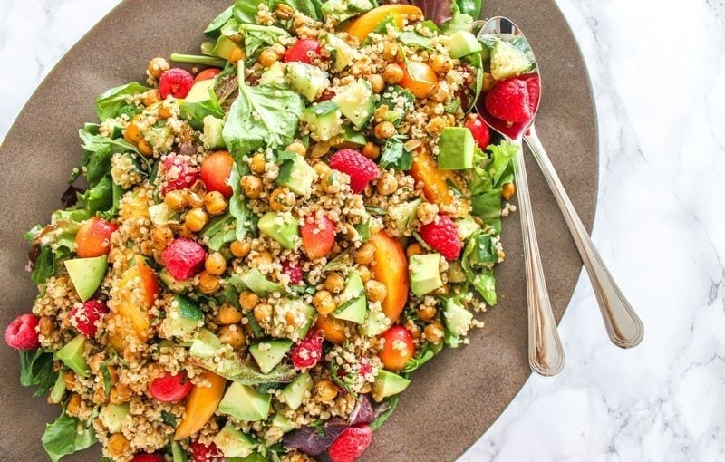 Balsamic Peach and Quinoa Salad - Eat Spin Run Repeat